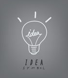 Light bulb and idea concept symbol. Vector illustration of  light bulb and idea concept symbol royalty free illustration