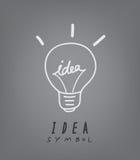 Light bulb and idea concept symbol. Vector illustration of  light bulb and idea concept symbol Stock Photography
