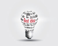 Light bulb idea concept Royalty Free Stock Image