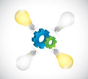 Light bulb idea gear illustration design Royalty Free Stock Images