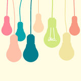Light bulb idea Stock Photography