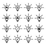Light bulb idea icon Royalty Free Stock Photography
