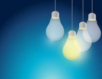 Light bulb idea illustration design Stock Images