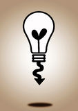 Light bulb idea in illustration Stock Photo