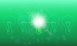 Light bulb idea Stock Images