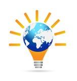 Light bulb idea logo Royalty Free Stock Images