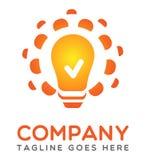 Light bulb idea logo Royalty Free Stock Photo