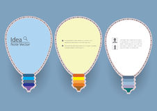 Light Bulb Idea Notes Template Royalty Free Stock Image