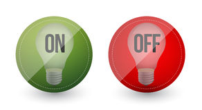 Light bulb idea on and off Stock Photography