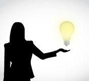 Light bulb idea presentation illustration Stock Photo