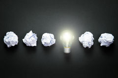 Light bulb idea royalty free stock photo