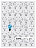 Light bulb idea think differentvector illustration Stock Images