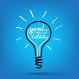 Light bulb idea vector Stock Images