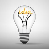 Light bulb idea vector Stock Photos
