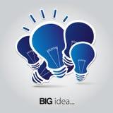 Light bulb idea vector illustration Stock Image