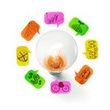 Light Bulb Ideas Royalty Free Stock Photos