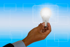 Light bulb Ideas on concept solution Stock Photography
