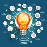 Light Bulb Ideas concept template. Stock Photo