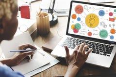 Light Bulb Ideas Creative Diagram Concept Stock Photos