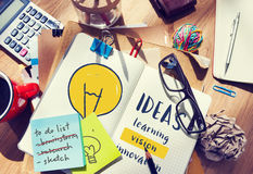 Light Bulb Ideas Creativity Innovation Invention Concept.  royalty free stock images