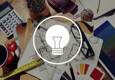 Light Bulb Ideas Inspiration VIsion Innovation Power Concept Stock Image