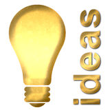 Light Bulb Ideas Text Royalty Free Stock Photography