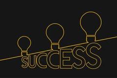 Light bulb ideas to success . Idea concept . Success concept. Stock Photo