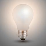 Light bulb illuminated. On grey background, realistic vector illustration vector illustration