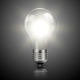 Light bulb illuminated Royalty Free Stock Photos