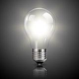 Light bulb illuminated. Realistic vector illustration stock illustration