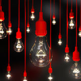 Light bulb illuminated with soft focus Royalty Free Stock Images