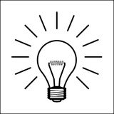 Light bulb illustration Stock Photos