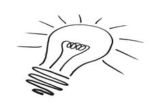 Light bulb illustration Royalty Free Stock Photography
