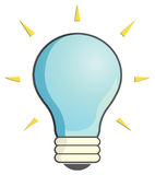 Light Bulb illustration Royalty Free Stock Photography