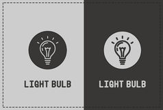 Light Bulb Illustration. A clean and simple light bulb illustration stock illustration