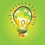 Light bulb illustration - idea concept. Light bulb vector icon - bulb idea, fresh business idea, business infographics Royalty Free Stock Photography