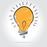 Light bulb illustration - idea concept. Light bulb vector icon - bulb idea, fresh business idea, business infographics Royalty Free Stock Photo