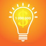 Light bulb illustration - idea concept. Light bulb vector icon - bulb idea, fresh business idea, business infographics Stock Images