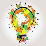 Light bulb illustration - idea concept. Light bulb vector icon - bulb idea, fresh business idea, business infographics Stock Photography