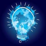 Light bulb illustration - idea concept. Light bulb vector icon - bulb idea, fresh business idea, business infographics Royalty Free Stock Photos
