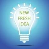 Light bulb illustration - idea concept. Light bulb vector icon - bulb idea, fresh business idea, business infographics Stock Photo