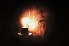 Light bulb. Image with grunge effect Stock Images