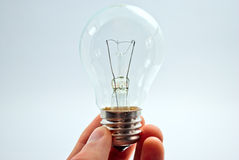 Free Light Bulb In Hand Stock Photography - 18273272