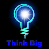 Light Bulb Indicates Think About It And Blazing Stock Images