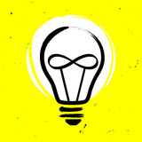 Light bulb with infinity sign. Vector illustration Royalty Free Stock Photos