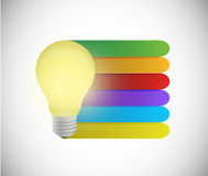 Light bulb and info graphic color lines Stock Photography
