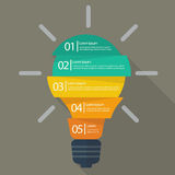 Light bulb infographic Royalty Free Stock Photos