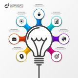 Light bulb. Infographic design template. Business concept. Vector illustration Royalty Free Stock Photos