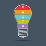 Light bulb infographics concept Royalty Free Stock Photography
