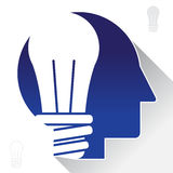 Light bulb inspire abstract graphic Stock Photo